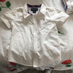 Girls Ralph Lauren collar shirt